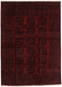 Afghan Rug 201X277 Authentic  Oriental Handknotted Dark Brown/Dark Red (Wool, Afghanistan)