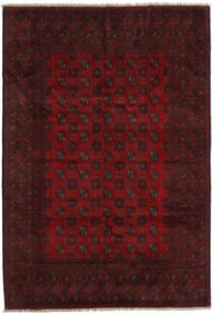 Afghan Tæppe 196X287 Ægte Orientalsk Håndknyttet Mørkebrun/Mørkerød (Uld, Afghanistan)