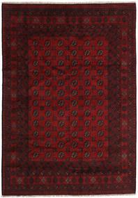 Afghan Rug 197X284 Authentic  Oriental Handknotted Dark Brown/Dark Red (Wool, Afghanistan)