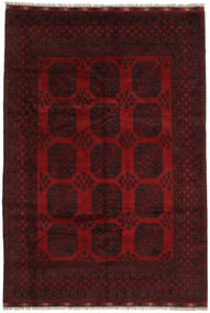 Afghan Rug 192X282 Authentic  Oriental Handknotted Dark Brown/Dark Red (Wool, Afghanistan)