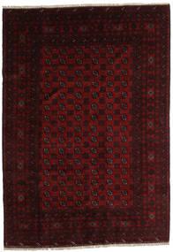 Afgan Dywan 202X288 Orientalny Tkany Ręcznie Ciemnoczerwony (Wełna, Afganistan)