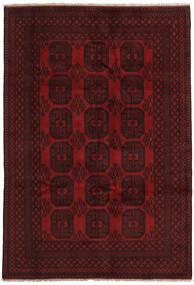 Afghan Tapis 195X286 D'orient Fait Main Marron Foncé/Rouge Foncé (Laine, Afghanistan)
