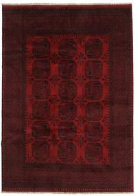 Afghan Matto 199X281 Itämainen Käsinsolmittu Tummanpunainen (Villa, Afganistan)