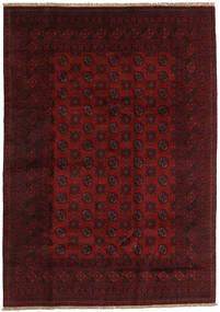 Afghan Rug 200X283 Authentic Oriental Handknotted Dark Brown/Dark Red (Wool, Afghanistan)