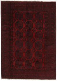 アフガン 絨毯 199X282 オリエンタル 手織り 深紅色の (ウール, アフガニスタン)