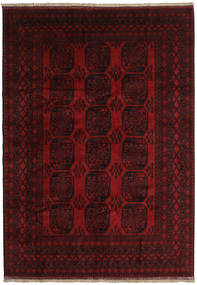 Afghan Rug 202X286 Authentic  Oriental Handknotted Dark Brown/Dark Red (Wool, Afghanistan)