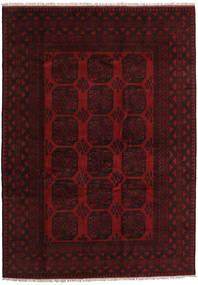Afghan Rug 205X286 Authentic  Oriental Handknotted Dark Brown/Dark Red (Wool, Afghanistan)