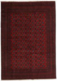 Afghan Rug 200X285 Authentic  Oriental Handknotted Dark Brown/Dark Red (Wool, Afghanistan)
