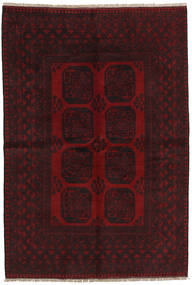 Afghan Matto 160X237 Itämainen Käsinsolmittu Tummanruskea/Tummanpunainen (Villa, Afganistan)