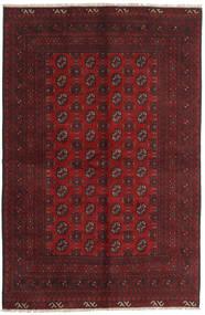 Afghan Rug 156X239 Authentic  Oriental Handknotted Dark Red (Wool, Afghanistan)