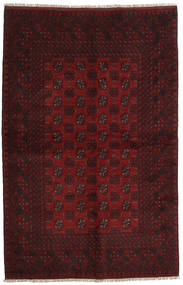 Afghan Rug 156X241 Authentic  Oriental Handknotted Dark Brown/Dark Red (Wool, Afghanistan)