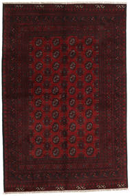 Afghan Rug 156X237 Authentic  Oriental Handknotted Dark Brown/Dark Red (Wool, Afghanistan)