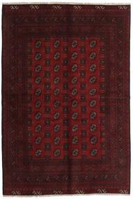 Afghan Rug 156X236 Authentic  Oriental Handknotted Dark Brown/Dark Red (Wool, Afghanistan)