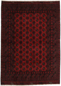 Afghan Rug 200X282 Authentic  Oriental Handknotted Dark Red (Wool, Afghanistan)