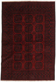 Afghan Rug 194X282 Authentic  Oriental Handknotted Dark Brown/Dark Red (Wool, Afghanistan)
