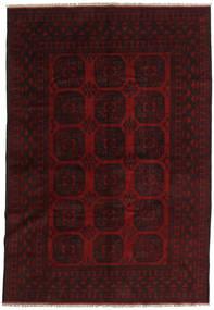 Afghan Rug 194X282 Authentic  Oriental Handknotted Dark Brown/Dark Red (Wool, Afghanistan)