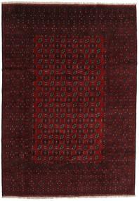 Afghan Rug 200X288 Authentic  Oriental Handknotted Dark Brown/Dark Red (Wool, Afghanistan)