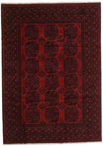 Afghan Rug 201X283 Authentic  Oriental Handknotted Dark Brown/Dark Red (Wool, Afghanistan)
