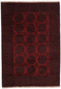 Afghan Rug 201X288 Authentic Oriental Handknotted Dark Brown/Dark Red (Wool, Afghanistan)