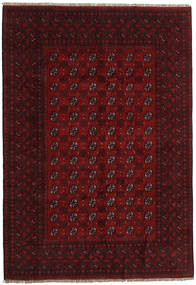 Afghan Rug 196X283 Authentic  Oriental Handknotted Dark Red (Wool, Afghanistan)