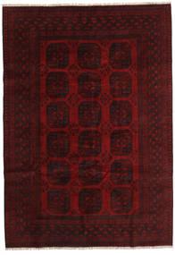 Afghan Rug 204X291 Authentic  Oriental Handknotted Dark Brown/Dark Red (Wool, Afghanistan)