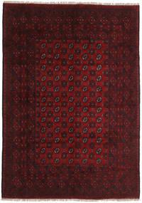 Afghan Rug 201X285 Authentic Oriental Handknotted Dark Brown/Dark Red (Wool, Afghanistan)