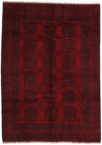 Afghan Rug 206X289 Authentic  Oriental Handknotted Dark Brown/Dark Red (Wool, Afghanistan)