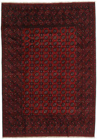 Afghan Rug 200X283 Authentic  Oriental Handknotted Dark Red (Wool, Afghanistan)