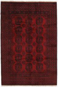 Afghan Matta 200X298 Äkta Orientalisk Handknuten Mörkröd/Röd (Ull, Afghanistan)