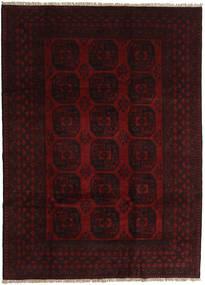 Afghan Rug 203X281 Authentic  Oriental Handknotted Dark Brown/Dark Red (Wool, Afghanistan)