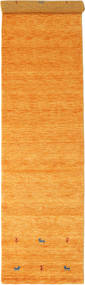 Gabbeh Loom Two Lines - Orange Rug 80X350 Modern Hallway Runner  Orange (Wool, India)