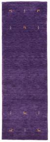 Gabbeh Loom Two Lines - Purple Rug 80X250 Modern Hallway Runner  Dark Purple (Wool, India)