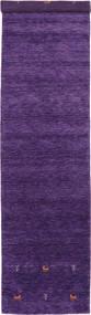 Gabbeh Loom Two Lines - Purple Rug 80X350 Modern Hallway Runner  Dark Purple (Wool, India)