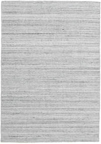 Petra - Light_Mix Rug 140X200 Authentic  Modern Handwoven Light Grey/White/Creme ( India)