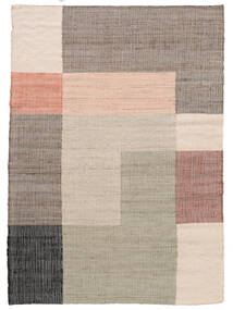 Fields Rug 140X200 Authentic  Modern Handwoven Light Grey/Beige ( India)