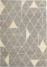 Berber Rug 200X300 Authentic  Modern Handwoven Light Grey/Light Brown ( India)