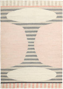 Time Rug 200X300 Authentic  Modern Handwoven White/Creme/Beige ( India)