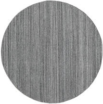 Petra - Dark_Mix Matto Ø 200 Moderni Käsinkudottu Pyöreä Vaaleanharmaa/Tummanharmaa/Sininen ( Intia)