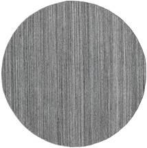 Petra - Dark_Mix Vloerkleed Ø 200 Echt Modern Handgeweven Rond Lichtgrijs/Donkergrijs/Blauw ( India)