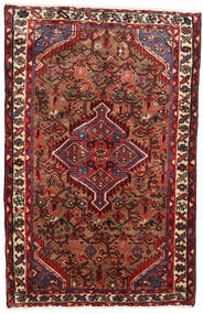 Hamadan Rug 78X112 Authentic  Oriental Handknotted Dark Red/Black (Wool, Persia/Iran)