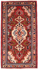 Lillian Rug 74X135 Authentic  Oriental Handknotted Rust Red/Dark Red (Wool, Persia/Iran)