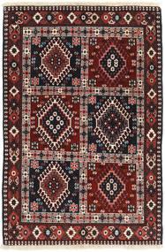 Yalameh Matta 84X125 Äkta Orientalisk Handknuten Mörkröd/Brun (Ull, Persien/Iran)