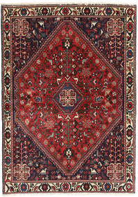 Abadeh Rug 104X148 Authentic  Oriental Handknotted Dark Red/Black (Wool, Persia/Iran)
