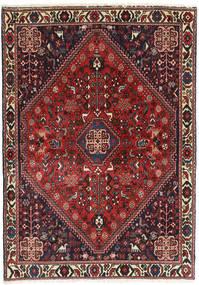 Abadeh Teppe 104X148 Ekte Orientalsk Håndknyttet Mørk Rød/Svart (Ull, Persia/Iran)