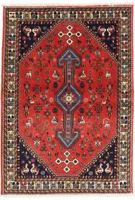 Abadeh Matto 98X144 Itämainen Käsinsolmittu Tummanruskea/Ruoste (Villa, Persia/Iran)