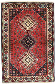 Yalameh Rug 104X157 Authentic  Oriental Handknotted Dark Red/Dark Blue (Wool, Persia/Iran)