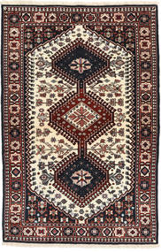 Yalameh Rug 100X154 Authentic  Oriental Handknotted Black/Beige (Wool, Persia/Iran)