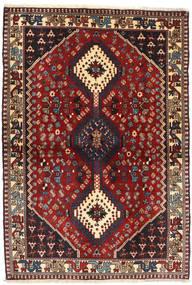 Yalameh Rug 105X150 Authentic  Oriental Handknotted Dark Red/Dark Grey (Wool, Persia/Iran)