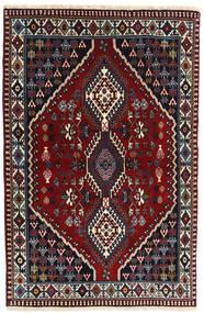 Yalameh Covor 99X154 Orientale Lucrat Manual Roșu-Închis/Gri Închis (Lână, Persia/Iran)