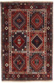 Yalameh Matto 98X152 Itämainen Käsinsolmittu Tummanpunainen/Musta (Villa, Persia/Iran)